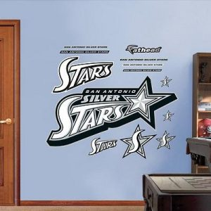 31x46-San-Antonio-Silver-Stars-Logo--Wall-Decal-0